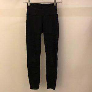 lululemon athletica Pants - Lululemon black legging with mesh, sz 2, 67821